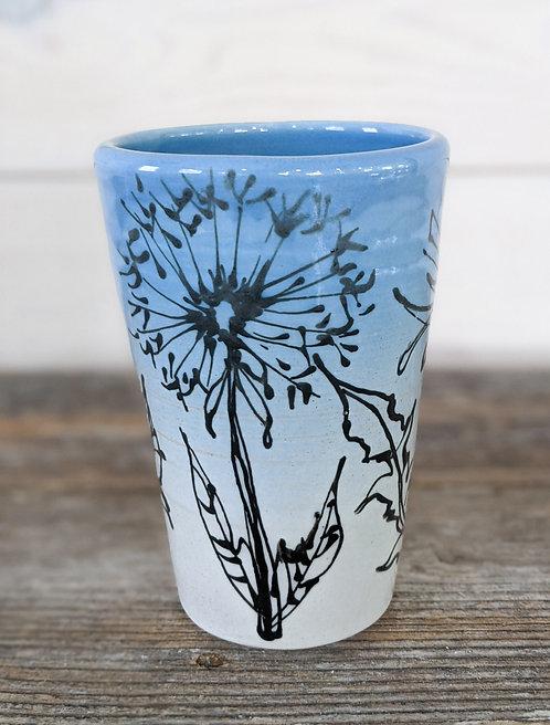 Cobalt Dandelion Pint Glass