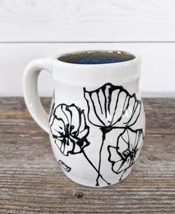 Tourmaline Floral Mug
