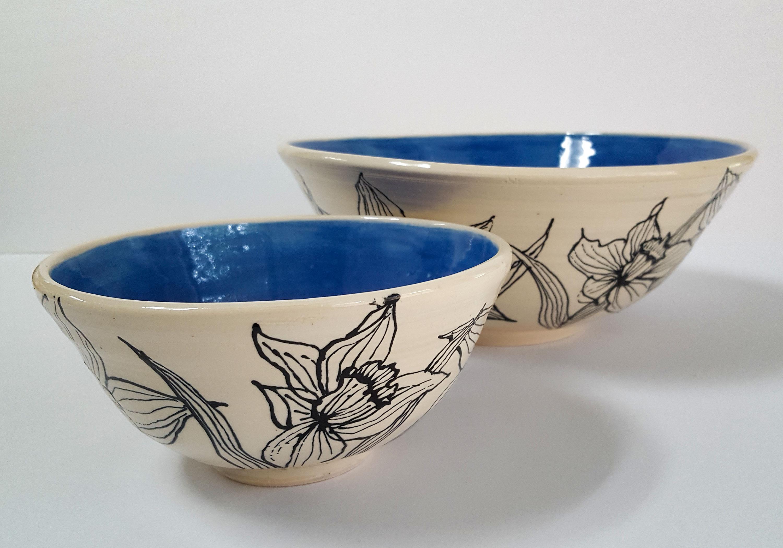 Serving and Salad Bowl Set (Blue)