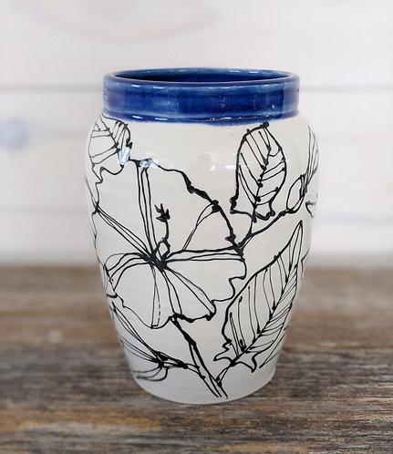 Ultramarine Morning Glory Vase