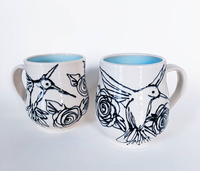 Hummingbird Mug Set