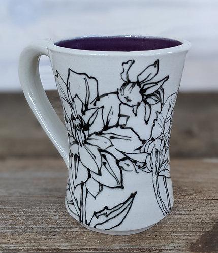 Amethyst Floral Mug