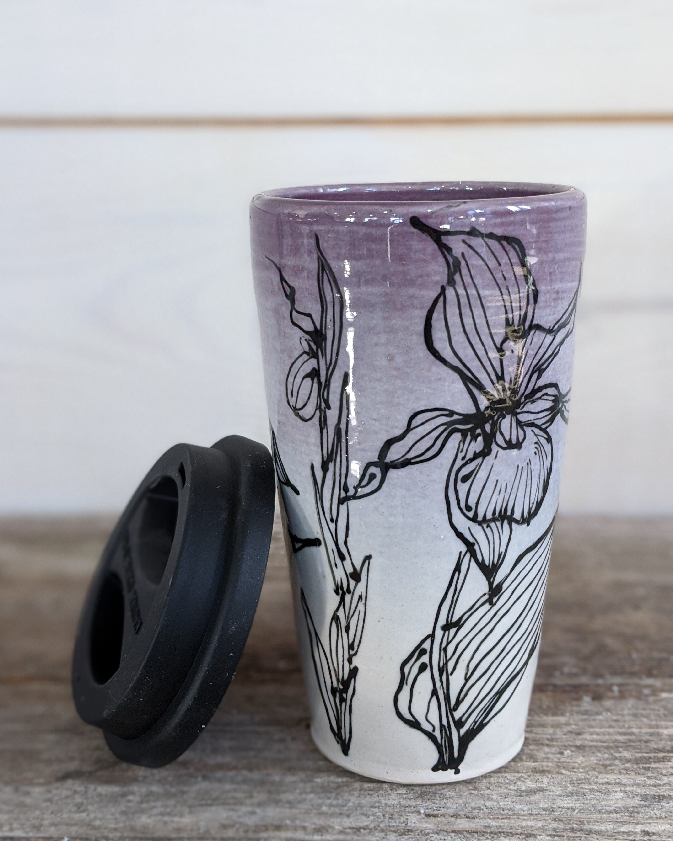 Amethyst Lady Slipper Tumbler