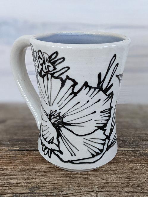 Periwinkle Flower Medley Mug