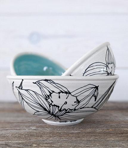 Jade Daffodil Bowl Set