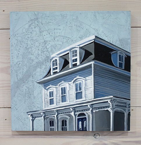 Second Story View | 10x10 | Original Painting on Panel