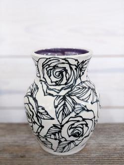 Amethyst Rose Vase