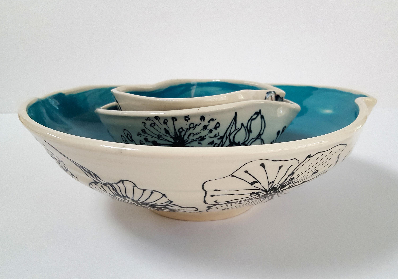Three Pinched Bowls