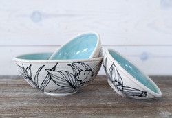 Jade Daffodil Bowl Set