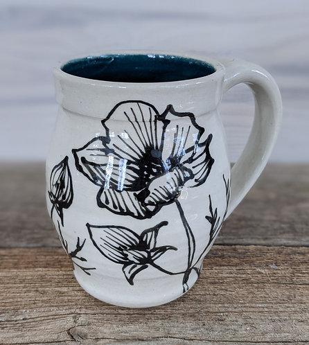 Jade Poppy Mug