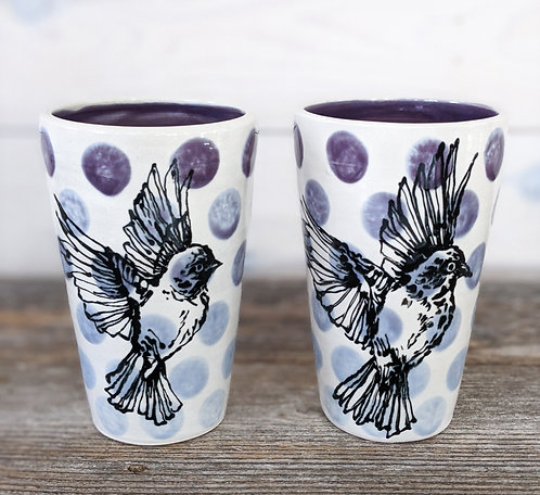 Amethyst Sparrow Pint Glasses (Set of 2)
