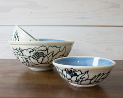 Botanical Bowl Set of 3 | Blue Flora