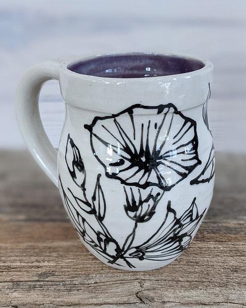 Plum Morning Glory Mug