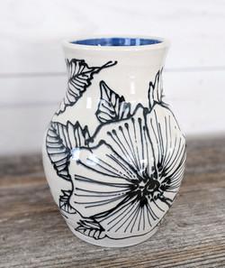 Cobalt Floral Vase