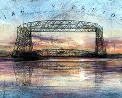 Duluth Lift Bridge at Dusk