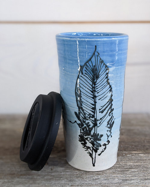 Cobalt Feather Tumbler #1