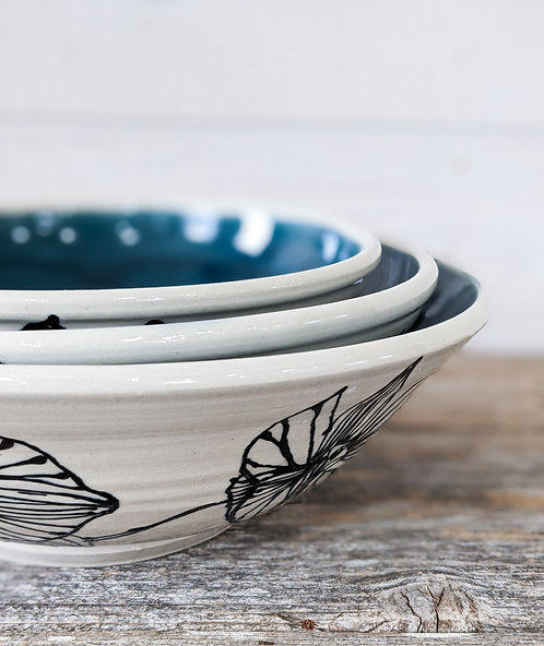 Viridian Orchid Bowl Set