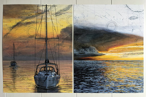 Superior Sunset + Break in the Storm Set | Two 11'' x 14'' Signed Prints