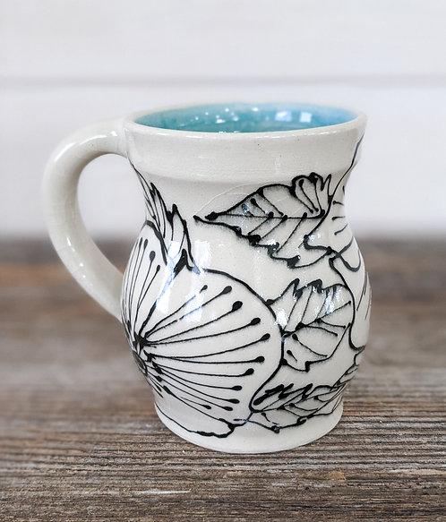Jade Floral Mug
