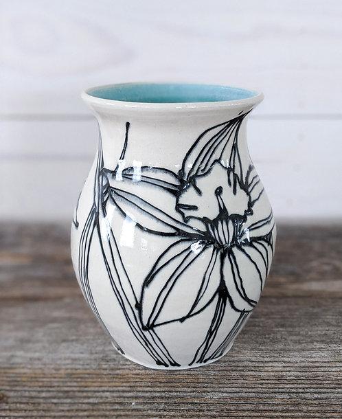 Jade Daffodil Vase