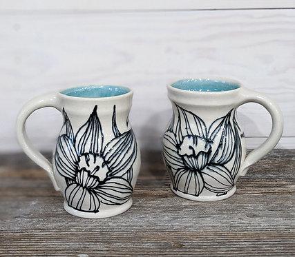Jade Daffodil Mug Set (2 Mugs)