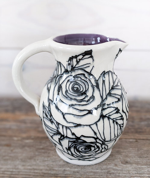 Amethyst Rose Pitcher