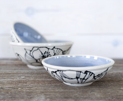 Lilac Poppy Bowl Set