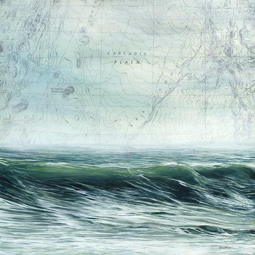 Cascadia Plain   36'' x 36'' Painting on Canvas