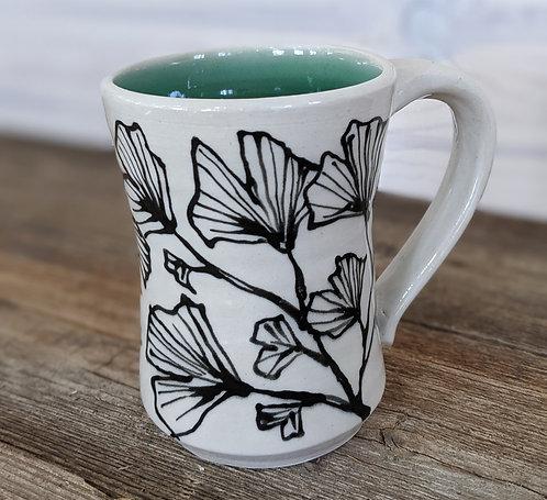 Celadon Ginkgo Mug