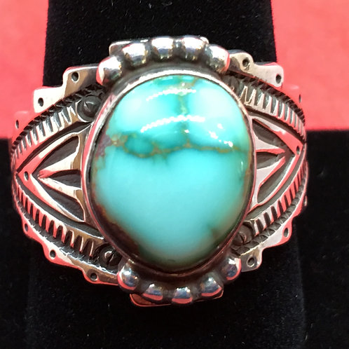 NAVAJO RING WITH ROYSTON TURQUOISE