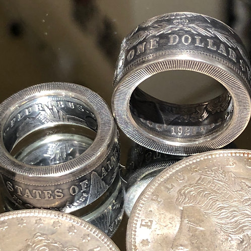SALE, RING US SILVER DOLLAR- AUTHENTIC