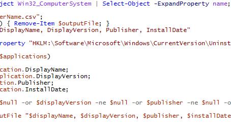 Grab All Installed Applications via PowerShell!