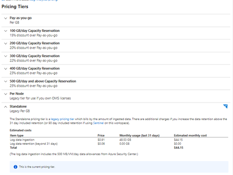Switch Log Analytics Pricing SKU - IT CAN BE DONE!