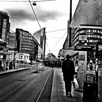 summer in downtown Oslo almost at midnight, 2015