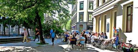 Café life in Oslo, summer 2015
