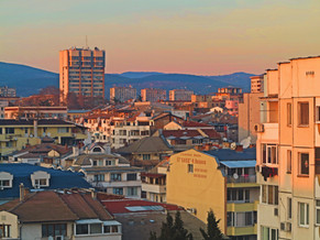 Stara Zagora at sunset, 2018