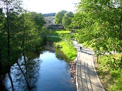 Akerselva River in Grünerløkka, Oslo, 2015