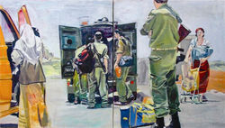 Bus stop diptych, 2005