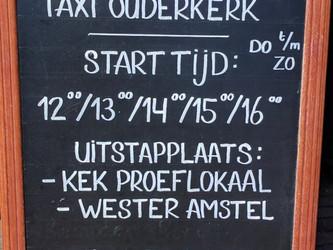 Met de watertaxi van Ouderkerk aan de Amstel naar Wester-Amstel