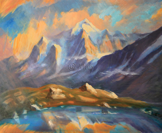 The Jungfrau and other paintings . . .