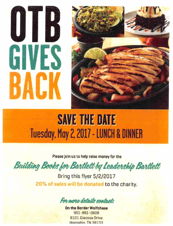 May 2nd Lunch and Dinner at OTB