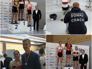 Die DONAU schlägt zu - 3 Medaillen bei Indoor Meisterschaft