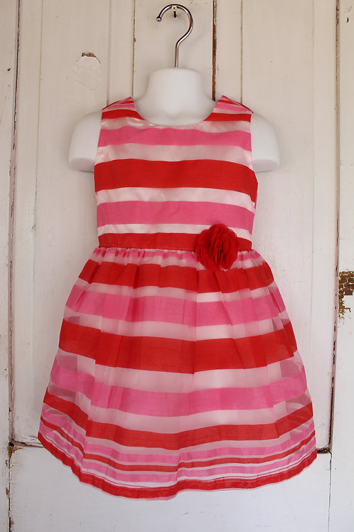 Girl's Size 4T Children's Place Striped Stripes Pink Red Dress NWT NEW