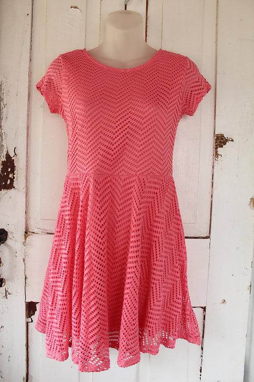 Women's Aeropostale Dress Medium M Eyelet Pink