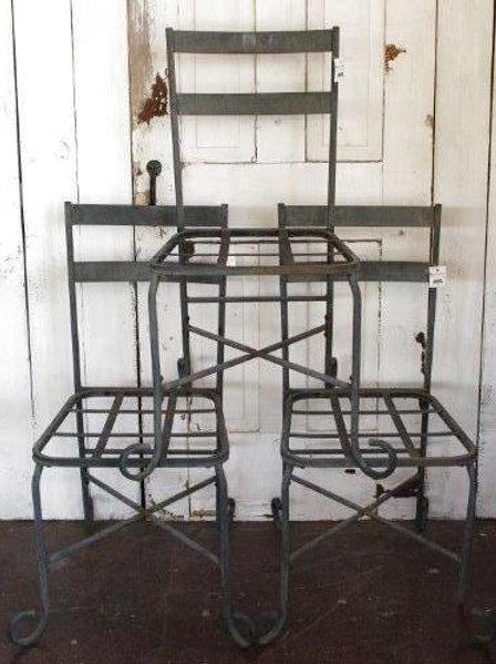 Black Shabby Metal Chair