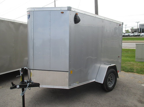 Silver Interstate 1 5' x 8' Enclosed Trailer