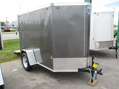 Charcoal Interstate 1 5' x 8' Enclosed Trailer
