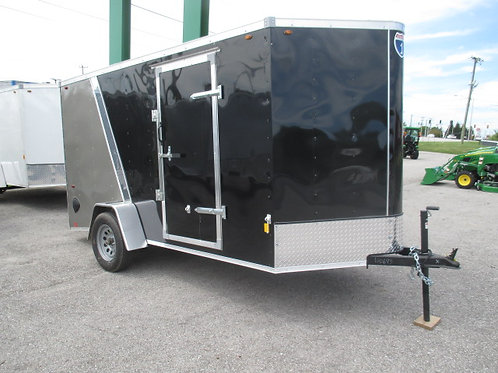 Black 2 Tone Interstate 1 6' x 12' Enclosed Trailer