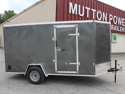 Charcoal Interstate 1 6' x 12' Enclosed Trailer