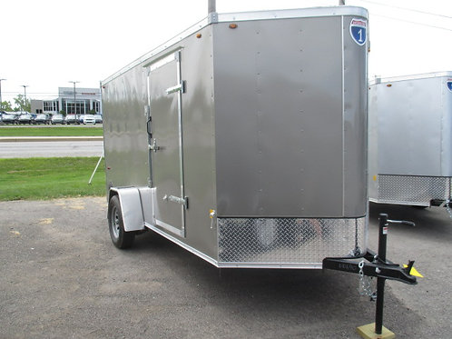 Silver Interstate 1 7' x 16' Enclosed Trailer